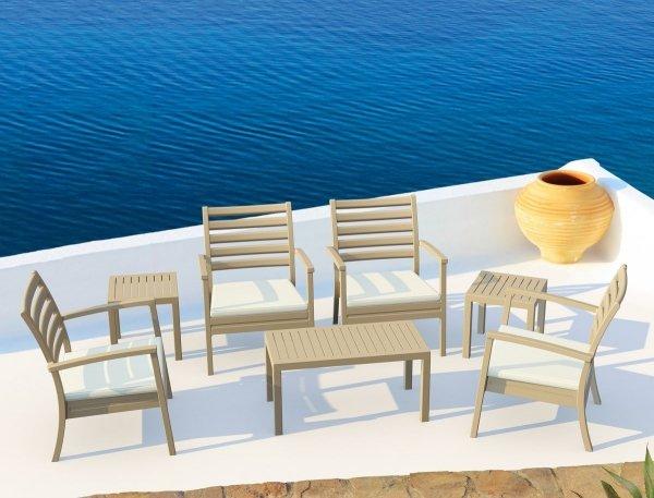 komplet na taras stolik ocean oraz fotele Artemis