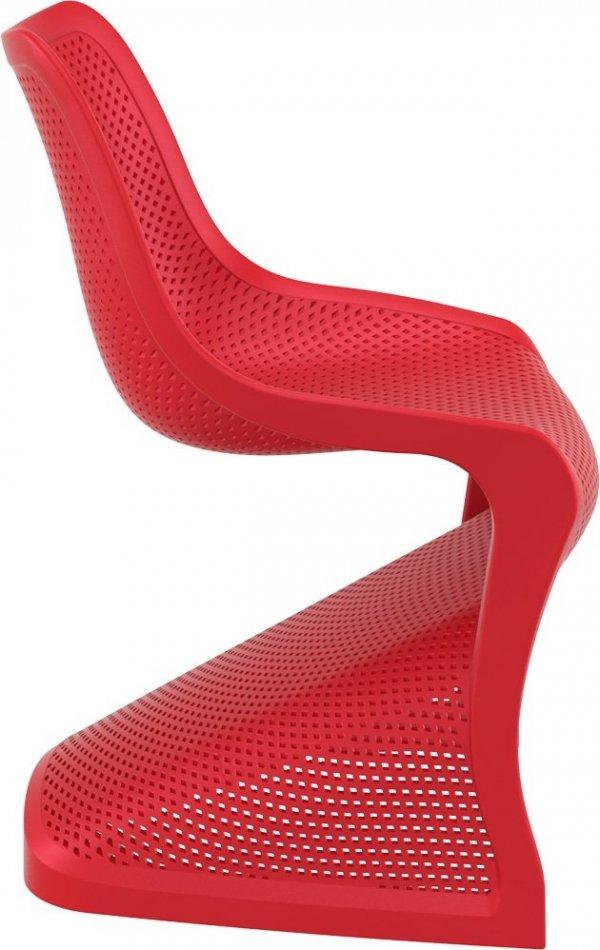 Krzesło Bloom Siesta z tworzywa czerwone