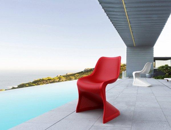 Krzesło Bloom Siesta z tworzywa idealne na taras