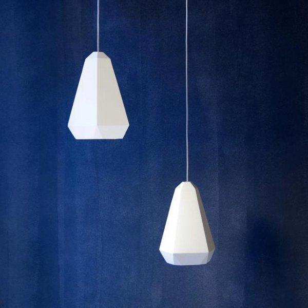 Portland Plaster lampa wisząca gipsowa biała Innermost