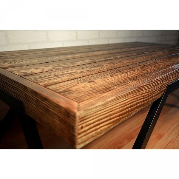 Barcelona stolik drewnany orzech pirenejski ciemny