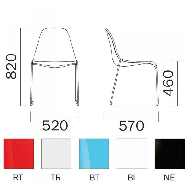 Krzesło Day Dram 401 wymiary