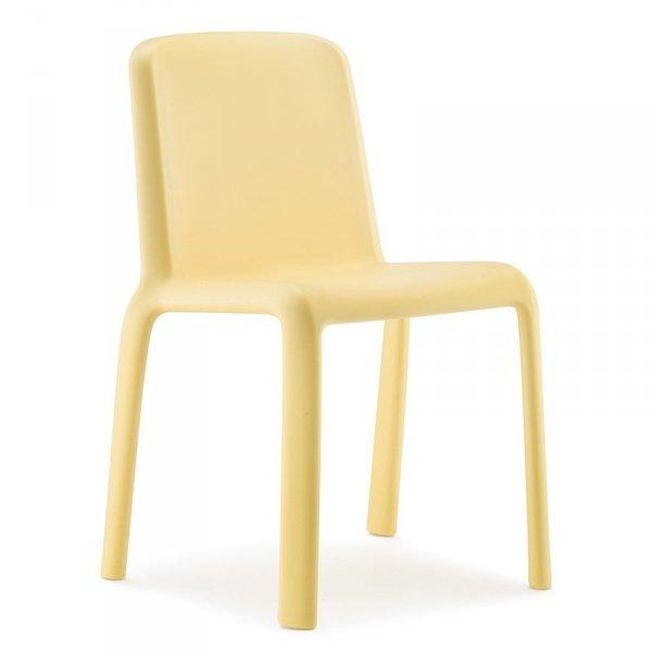 Nowoczesne krzesło dziecięce ogrodowe Pedrali Snow 303 Żółte