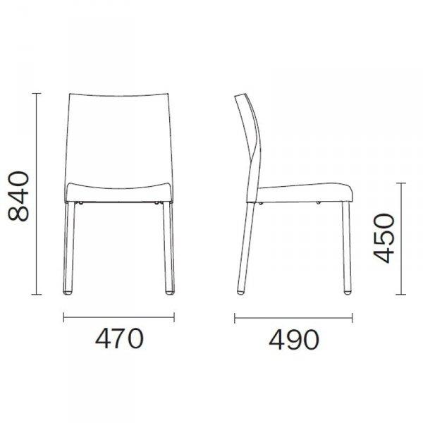 Stylowe krzesło Ice 800 wymiary