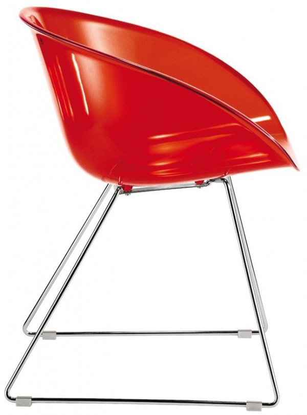 Gliss 921 Krzesło Pedrali czerwone