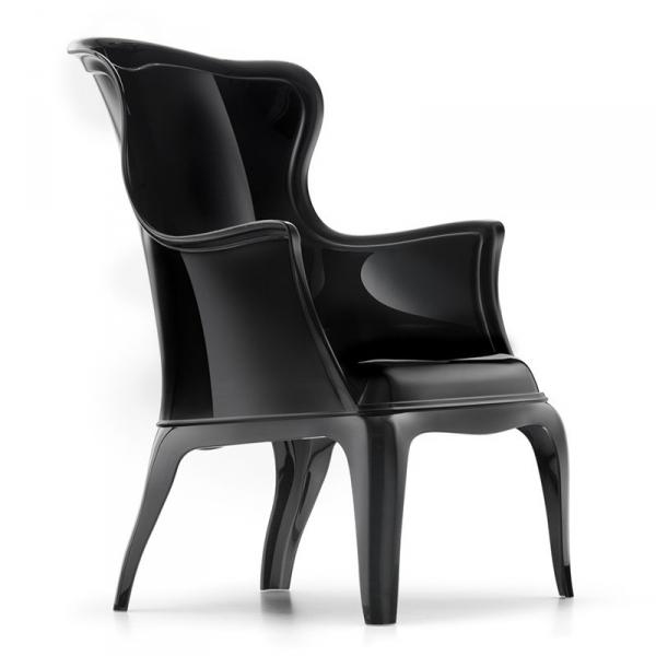 Stylowe krzesło z tworzywa Pasha 660 Pedrali czarne