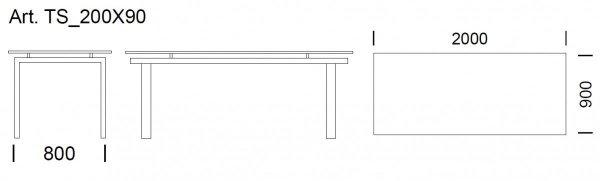 Stół Space 2000x900 Pedrali