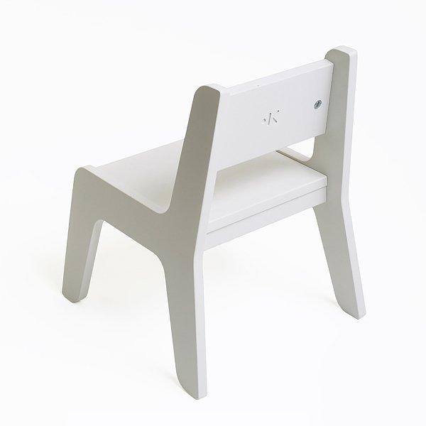 KuKuu Krzesełko Dziecięce L w kolorze bardzo mlecznym Bird&Berry