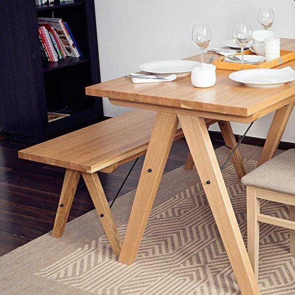 Ławka drewniana Minko Woodie do jadalni