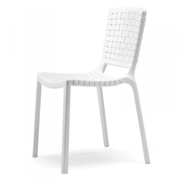 Białe, lekkie i stylowe krzesła Tatami 305 Pedrali