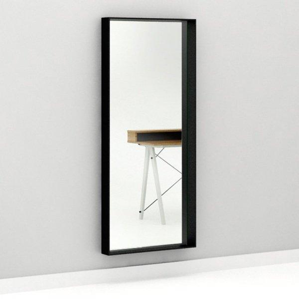 Minimalistczne lustro Woodie Minko w kolorze białm