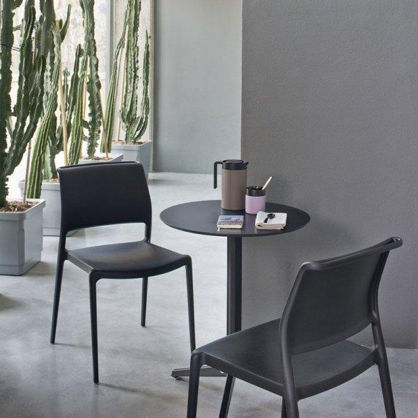 Nowoczesne krzesła z tworzywa