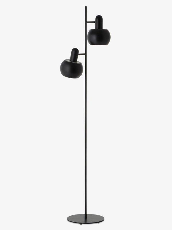 Lampa podłogowa BF20 podwójna Frandsen czarny/mat