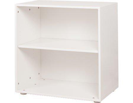 Regał z 2 półkami Flexa White