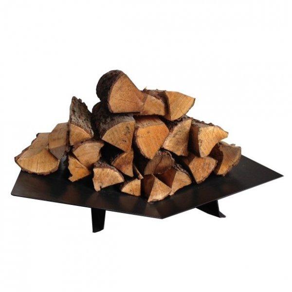 Nowoczesny, niski stojak na drewno