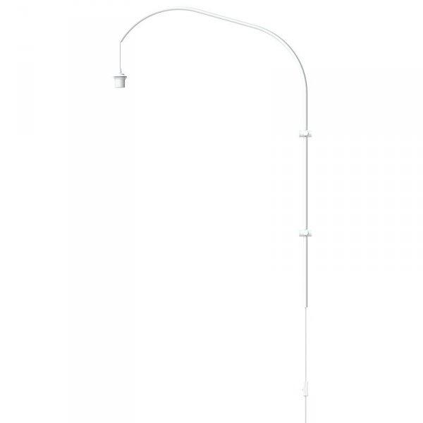 Pojedyncze ramię do lampy ściennej Willow Single białe