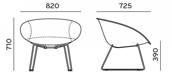 Gliss Lounge 341 Fotel Pedrali