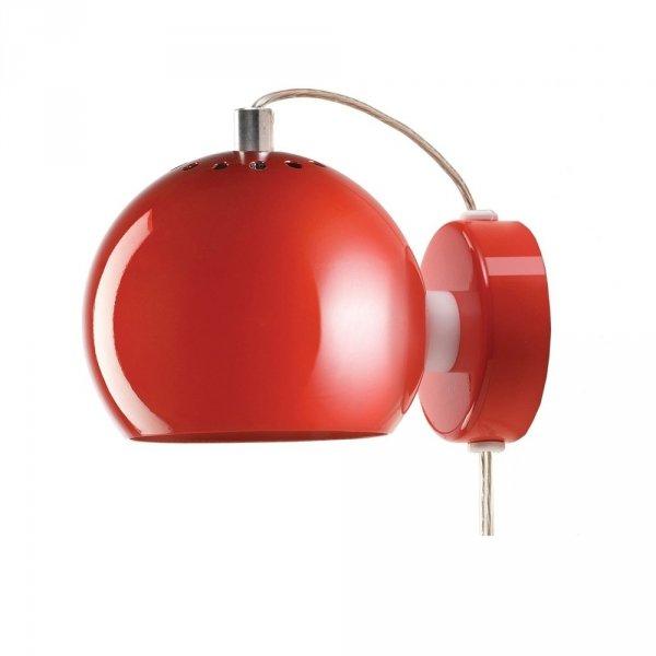 Nowoczesna lampa w kształcie kuli w kolorze czerownym