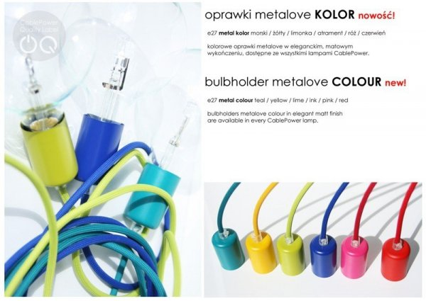 Cable ONE Metalove Kolor Lampa CablePower
