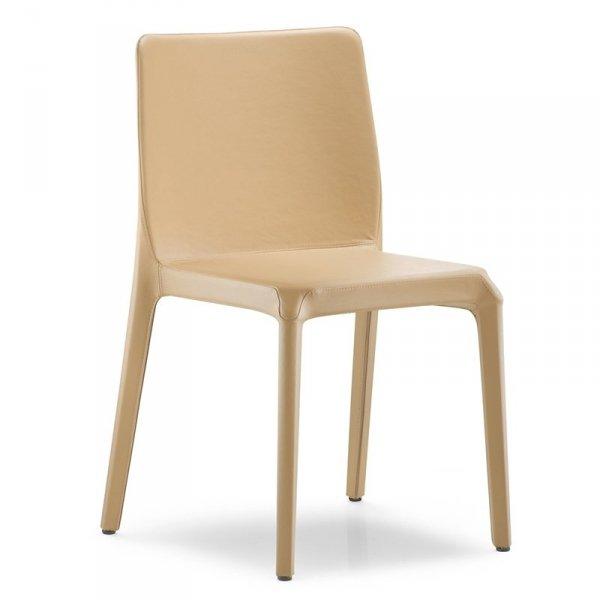 Stylowe krzesło tapicerowane skórą lub skórą ekologiczną Pedrali