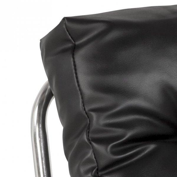 Wygodny fotel pikowany Boudoir czarny