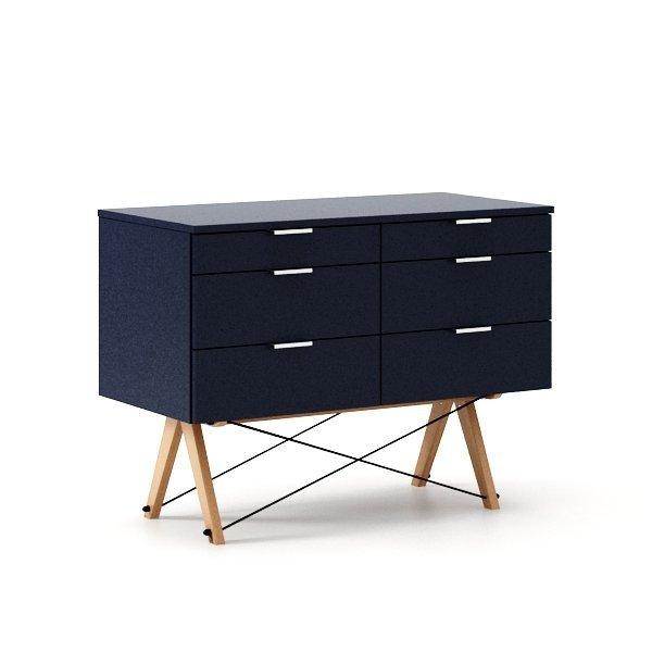 Kontenerek Minko Double w połączeniu z biurkiem tworzy idealne domowe biuro lub miejsce nauki nastolatka