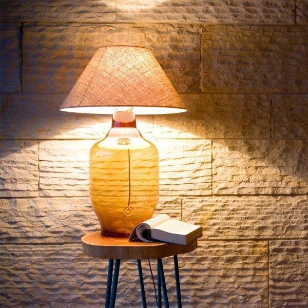 Lampa Stołowa szklana miodowa LGH0180 Gie El