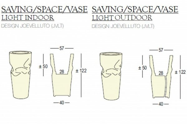 Saving Space Vase Light