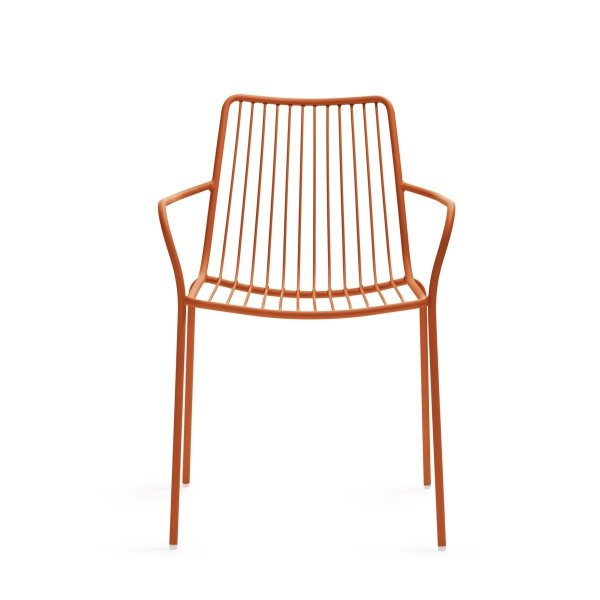 Metalowy fotel zewnętrzny wysoki Nolita 3656 Pedrali