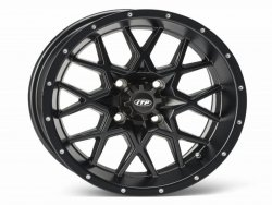 HURRICANE 14x7 4/137 5+2 1428641536B Matte Black