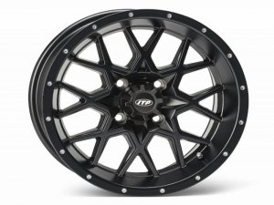 HURRICANE 15x7 4/110 5+2 1528643536B Matte Black