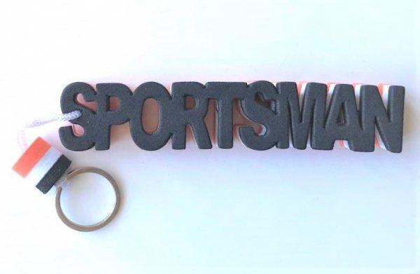 Breloczek, brelok do kluczy piankowy z napisem Sportsman