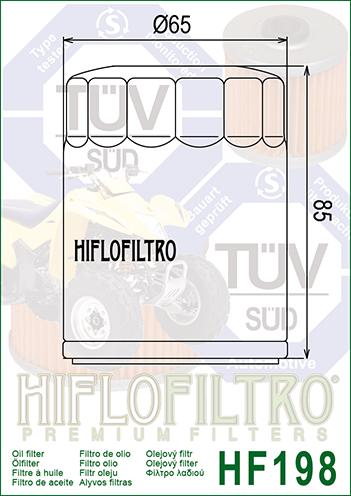Filtr oleju HF-198 Polaris Sportsman 800 / RZR 800