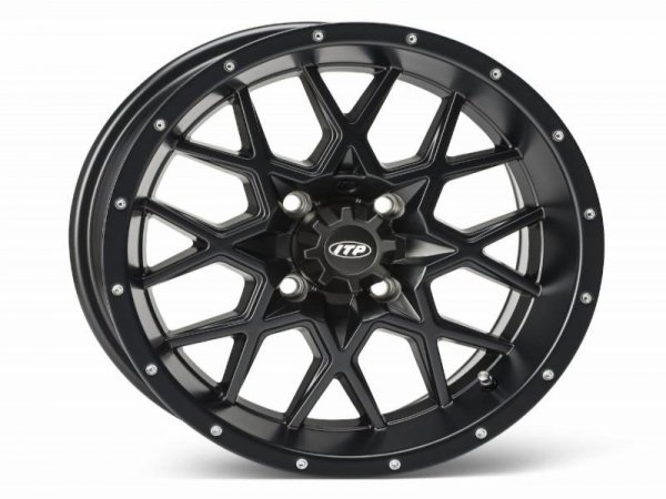 HURRICANE 12x7 4/115 5+2 1228634536B Matte Black