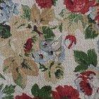 Tkanina len z bawełną róże na beżowym tle SL 26 roses sand
