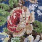 Lniane materiały dekoracyjne SL 28 roses blue