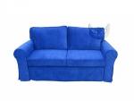 Rozkładana niebieska sofa 3-osobowa- Marie  206 cm/FS