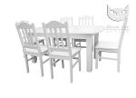 Piękny komplet w stylu prowansalskim:Country stół z wkładką + krzesła