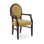 Drewniane krzesło z podłokietnikami Jenny