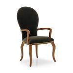 Krzesło owalne oparcie tapicerowane Sophia