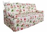 Sofa z pokrowcem nierozkładana Flower wer. 200 cm
