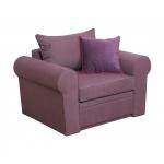 Wygodny fotel z niskim oparciem Rosaly