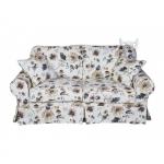 Prowansalskie sofy do salonu Christine 168 cm bez funkcji spania