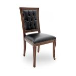 Krzesło prostokątne pikowane oparcie Amelia