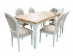 Zestaw w bieli Stół Sevilla i 6 krzeseł Luigi