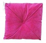 Kwadratowa poduszka z przeszyciem i guzikiem Frou Frou