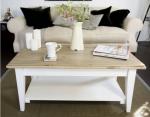 Stolik w stylu Hampton z półką Neva