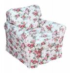 Luźny pokrowiec fotel z niskim oparciem Flower