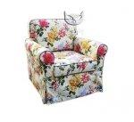 Fotel fartuchowiec w kwiaty Marie