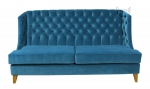 Pikowana sofa w tkaninie plamoodpornej Fortuna
